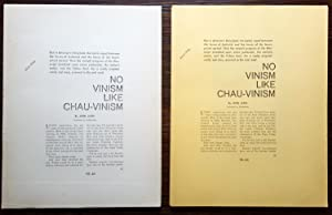 There's No Vinism Like Chauvinism - Original Typed Manuscript: Jakes, John