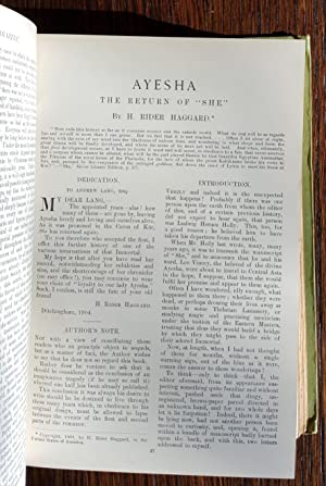 Ayesha: The Return of She in The Windsor Magazine Bound Volumes XXI and XXII: December 1904 - ...