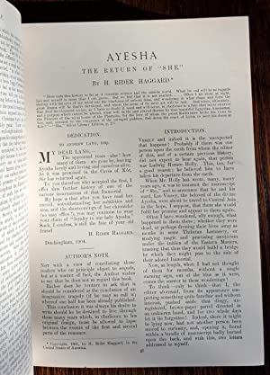 Ayesha: The Return of She in The Windsor Magazine Bound Volume XXI and XXII: December 1904 - ...