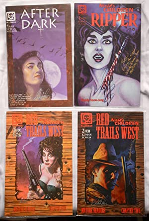 Four (4) Millennium Comics: After Dark, Night's Children Ripper, and Night's Children Red Tails W...