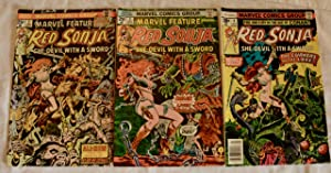 Red Sonja Marvel Comic issues #2, 3, 4, 6, & 7