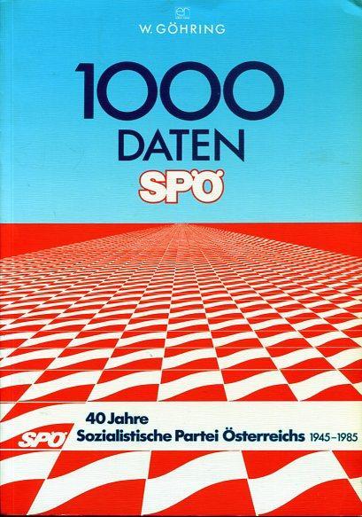 1000 Daten SPÖ - 40 Jahre Sozialist. Partei Österreichs 1945 - 1985. Zur Entwicklung der Sozialistischen Partei Österreichs 1945 - 1985. - Göhring, Walter