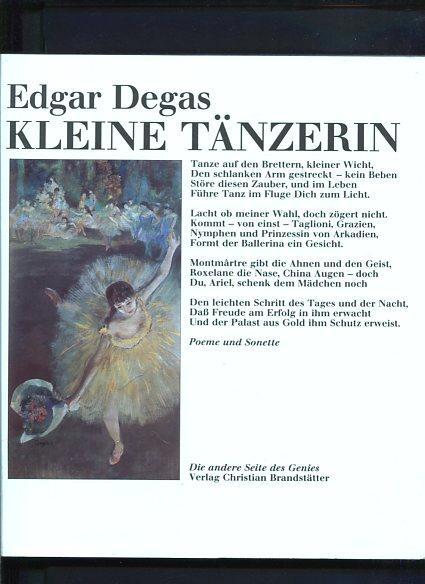 Kleine Tänzerin Poeme und Sonette: Degas, Edgar: