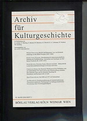 Archiv für Kulturgeschichte 92. Band, Heft 2: Klaus, Herbers (Hg):