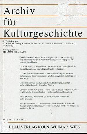 Archiv für Kulturgeschichte - 91. Band, Heft 1.: Neuhaus, Helmut: