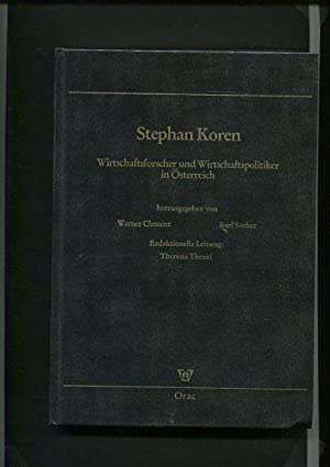 Stephan Koren - 1919 - 1988 -: Clement, Werner [Hrsg.],