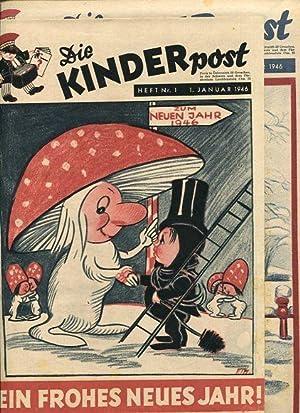 Die Kinderpost - Zeitschrift, Jahrgang 1946, komplett - Gebunden. 1. Jahrgang, Hefte Nr. 1 bis Nr. ...