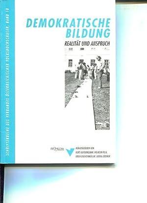 Demokratische Bildung. Realität und Anspruch. Hrsg.: Verband Österreichischer ...