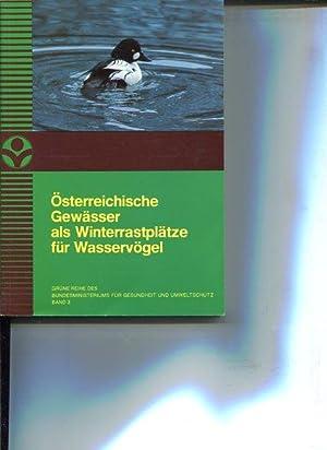 Österreichische Gewässer als Winterrastplätze für Wasservögel. Grüne ...