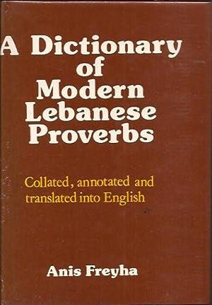 A Dictionary of Modern Lebanese Proverbs: Freyha, Anis