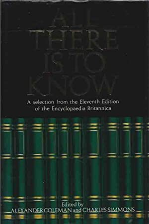 All There is to Know: Coleman, Alexander; Editors