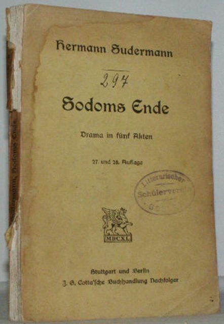 Sodoms Ende: Sudermann, Hermann