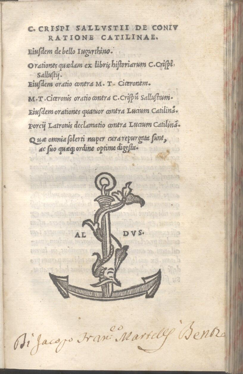 C. CRISPI SALLUSTII CRISPI DE CONIURATIONE CATILINAE. Eiusdem de bello Iugurthino, Orationes ...