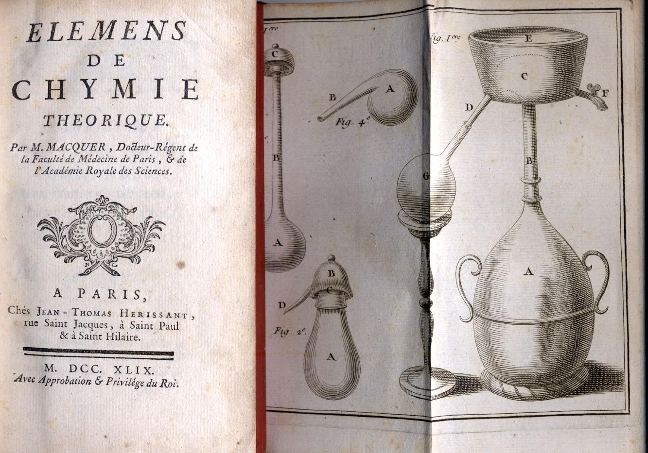 ELEMENS DE CHYMIE THEORIQUE.: MACQUER Pierre Joseph.