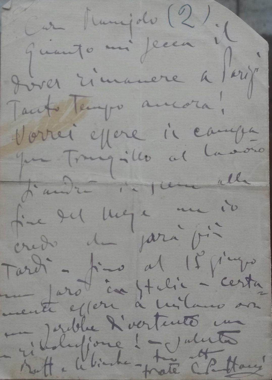 Lettera autografa inviata da Giacomo Puccini e dalla moglie Elvira Bonturi alla sorella del Maestro...