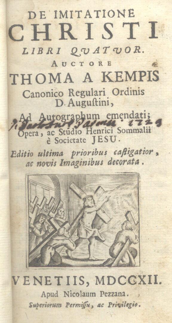 DE IMITATIONE CHRISTI. Libri quatuor, auctore Thoma a Kempis, ad Autographum emendati. Opera ac ...