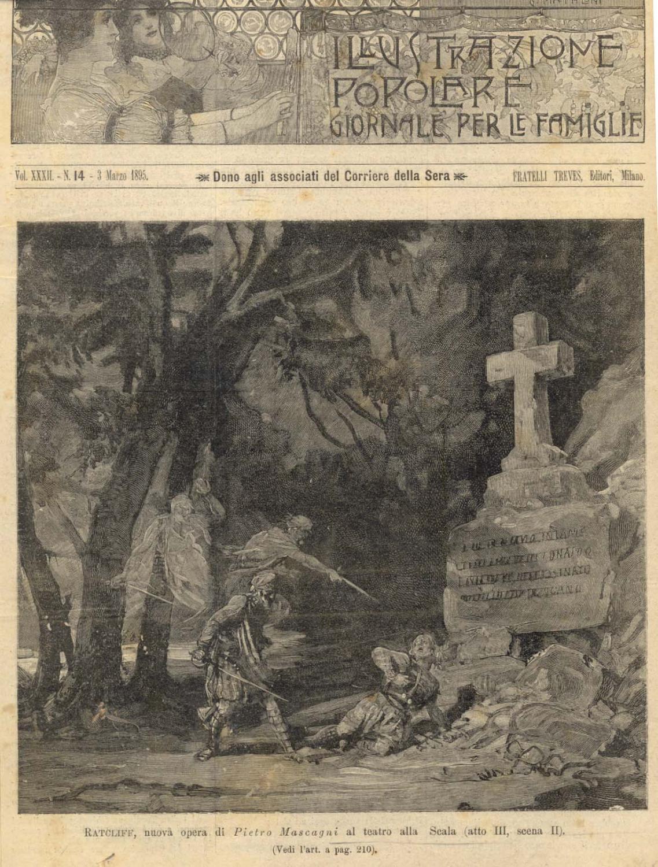 Incisione originale raffigurante la scena seconda del terzo atto della prima esecuzione assoluta ...