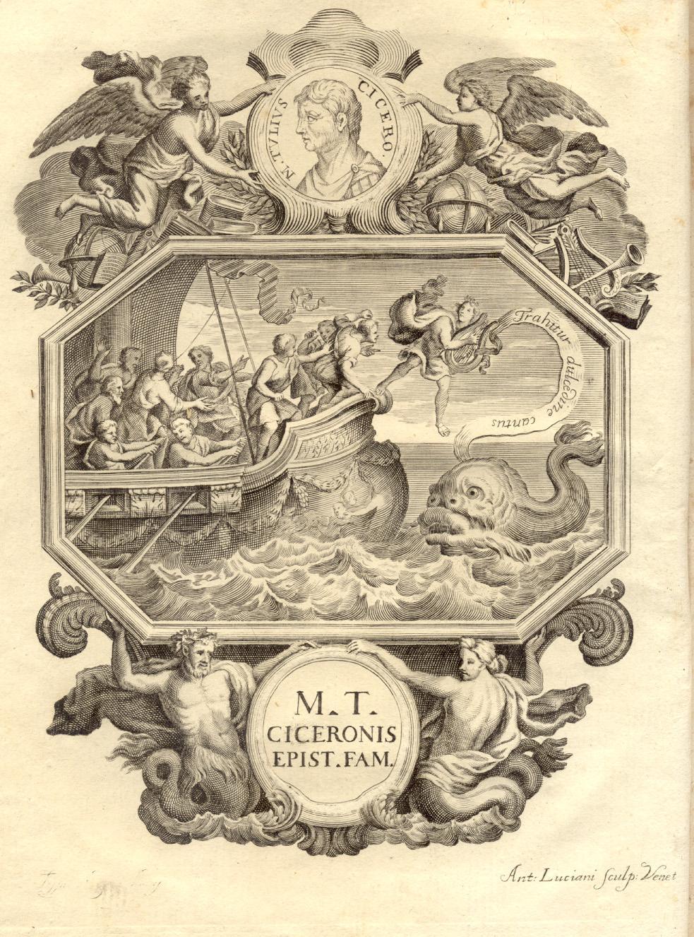 M.T. CICERONIS AD FAMILIARES EPISTOLAE. Interpretazione & Notis illustravit Philibertus ...