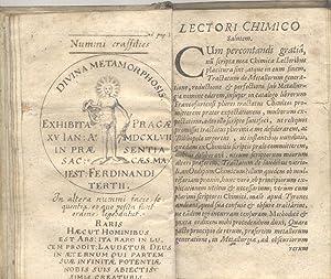 OEDIPUS CHIMICUS. Institutiones Chimicae Prodromae. Obscuriorum Terminorum & Principiorum ...