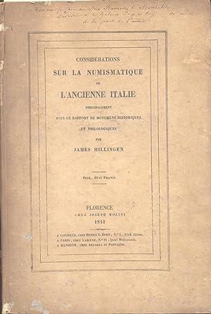 CONSIDERATIONS SUR LA NUMISMATIQUE DE L?ANCIENNE ITALIE. Principalement sous le rapport de monumens...