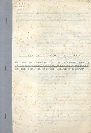 Documentazione originale concernente il progetto della Chiesa parrocchiale di Marina di Campo e di ...