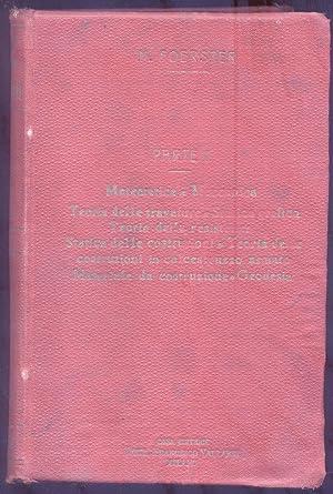 MANUALE DEL COSTRUTTORE. Traduzione con note ed aggiunte di Cesare Albertini. 1919-1922.: FOERSTER ...