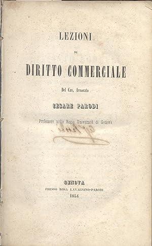 LEZIONI DI DIRITTO COMMERCIALE. 1854-1857.: PARODI Cesare.