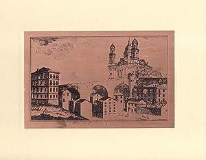 RICORDO DELLA VECCHIA GENOVA. N°10 antiche stampe incise su rame a cura di C.Costa. Genova, ...