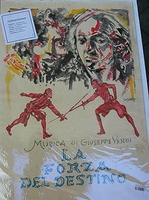 LA FORZA DEL DESTINO DI GIUSEPPE VERDI. Bozzetto originale dell'opera del pittore Giuseppe ...
