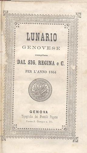 LUNARIO GENOVESE. Compilato dal Signor Regina e