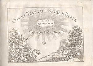 IL BARBIERE DI SIVIGLIA (1816). Melodramma buffo: ROSSINI Gioacchino.