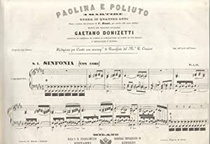 PAOLINA E POLIUTO O SIA I MARTIRI (1848). Opera in quattro atti [da Eugenio Scribe]. Nuova versione...