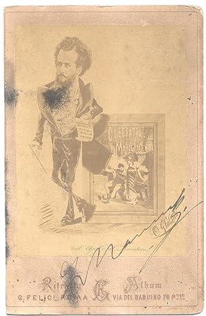 Fotografia originale con firma autografa del musicista Luigi Mancinelli (Orvieto, 1848-1921).