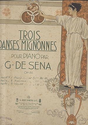 VALSE. Riduzione per Pianoforte. Op.81 (Pl.n°104580).: De SENA Gennaro (Napoli, ? - 1924).