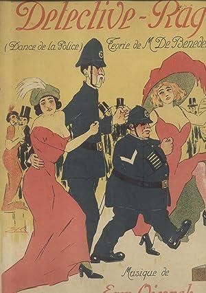 """DETECTIVE-RAG (""""Danza dei poliziotti""""). Polka per Pianoforte. Parole di M.De Benedetti.: ..."""
