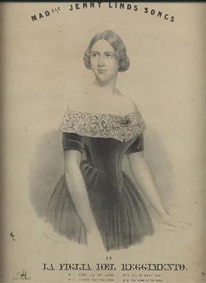 Litografia originale raffigurante la cantante lirica Jenny Lind (Stoccolma, 1820-1887) nel costume ...