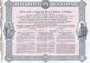 """Lotto di tre documenti a stampa rilasciati dalla Repubblica di San Marino, inerenti il """"..."""