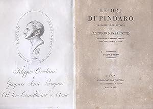 LE ODI. Tradotte ed illustrate da Antonio Mezzanotte. 1819-1820.: PINDARO.