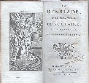 LA HENRIADE. Nouvelle Édition.: VOLTAIRE François Marie Arouet de.