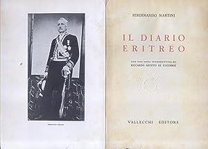 IL DIARIO ERITREO, 1897-1907. 1942-1943.: MARTINI Ferdinando (Firenze, 1841-1928).