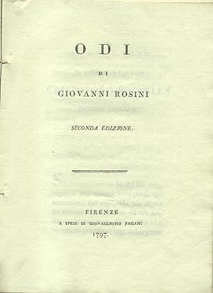 ODI DI GIOVANNI ROSINI. Seconda edizione.: ROSINI Giovanni.