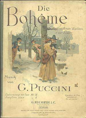 "DIE BOHÈME (1896). Scenen aus Henry Murger ""Vie de Bohème"" in vier Bildern ..."