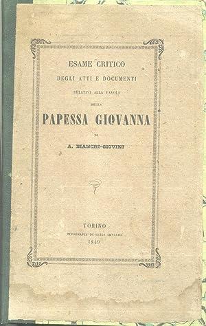 ESAME CRITICO DEGLI ATTI E DOCUMENTI RELATIVI: BIANCHI GIOVINI Aurelio.