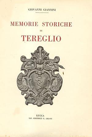 MEMORIE STORICHE DI TEREGLIO.: GIANNINI Giovanni.