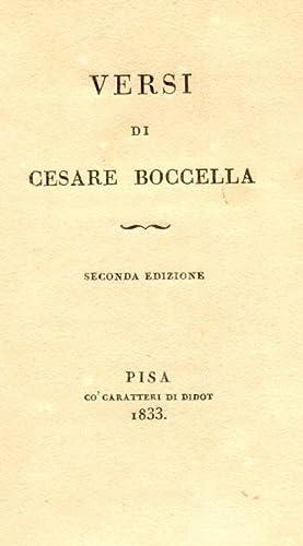 VERSI. Seconda edizione.: BOCCELLA Cesare.