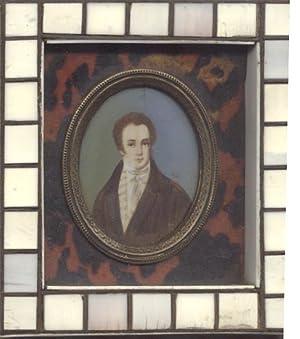 Ritratto in miniatura, su avorio, raffigurante il musicista Franz Schubert (Wien, 1798-1828). XIX ...