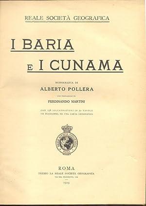 I BARIA E I CUNAMA. Monografia.: POLLERA Alberto.