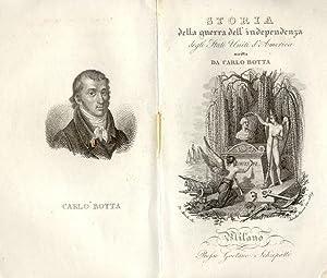 STORIA DELLA GUERRA DELL'INDIPENDENZA DEGLI STATI UNITI D'AMERICA. 1829-1830.: BOTTA ...