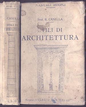 STILI DI ARCHITETTURA.: CANELLA Renzo.