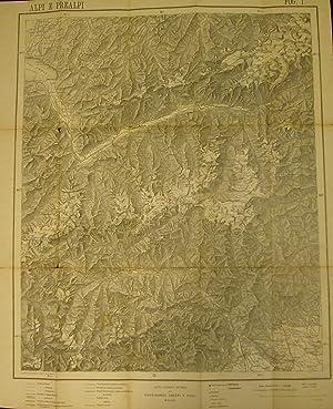 ALPI E PREALPI. Carta corografica compilata e disegnata da Pio Galli. Foglio n°1 contenente: &...